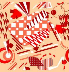 abstract geometric seamless pattern in bright vector image