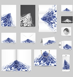 Abstract Stationery Template Design vector image vector image