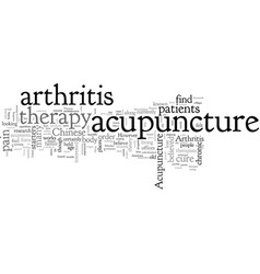 acupuncture and arthritis vector image