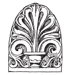 anthemion have ancient rome carved pattern vector image