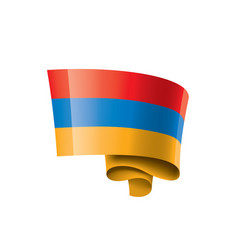 armenia flag on a white vector image