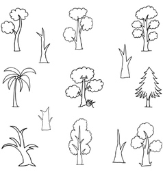 Art of tree hand draw doodles vector