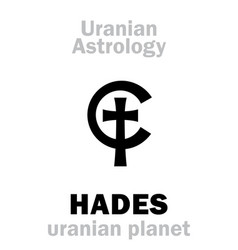 astrology hades uranian planet vector image