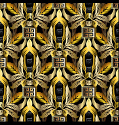 barogue gold vintage 3d seamless pattern vector image