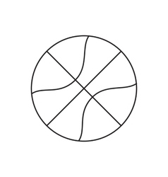 Basketball line icon vector image vector image