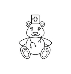 bear of medical icon vector image