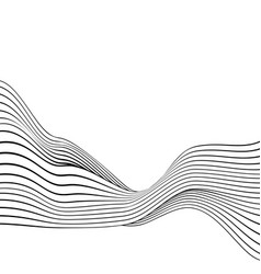 black and white line stripe wave abstract vector image