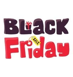 Black Friday icon cartoon style vector