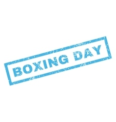 Boxing Day Rubber Stamp vector image