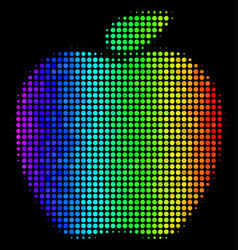 bright dot apple icon vector image