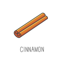 Cinnamon line cooking vector