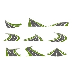 Circumflex roads logo set vector