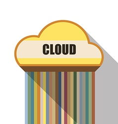 cloud symbol flat design vector image