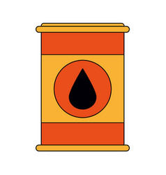Colorful graphic barrel oil with petroleum drop vector