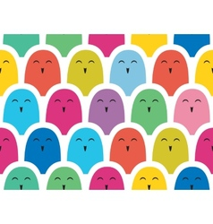 Colorful simple pattern Crowd vector image