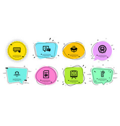 Computer keyboard metro subway and comments icons vector