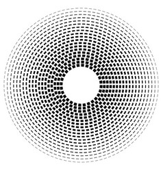 Concentric dashed line circles - abstract vector