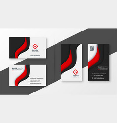 Elegant red corporate business card template vector