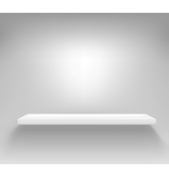 Empty white shelf hanging on a wall vector image