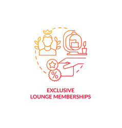 Exclusive lounge memberships red gradient concept vector