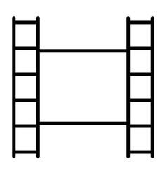 film strip line icon video symbol vector image