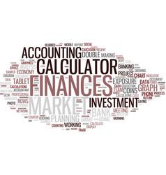 Finances word cloud concept vector