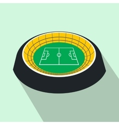Football round stadium flat icon vector