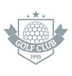 golf logo simple gray style vector image vector image