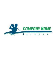 golfer logotype vector image