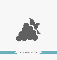 grape icon simple fruit vector image