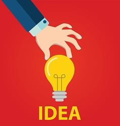 Great Idea Concept in flat style vector