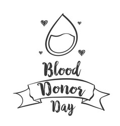 Hand draw world blood donor day vector