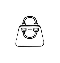 handbag hand drawn sketch icon vector image