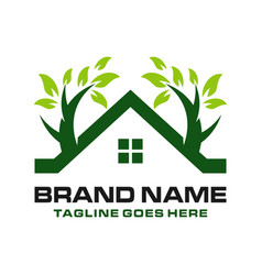 home logo with trees vector image