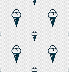 ice cream icon sign Seamless pattern with vector image
