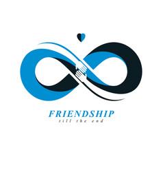 Infinite friendship friends forever special logo vector