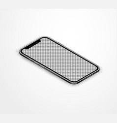 Isometric mobile phone realistic with blank touch vector