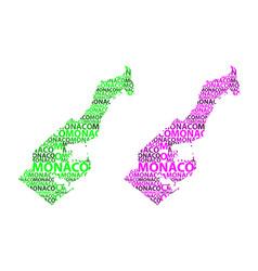 map of monaco vector image