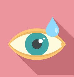 Medical eye drop icon flat style vector