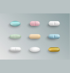 medical pills tablets capsules vector image