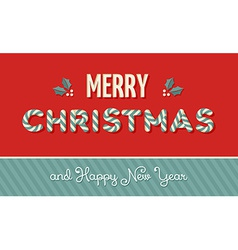 Merry Christmas vintage label background vector