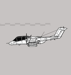 north american rockwell ov-10 bronco vector image