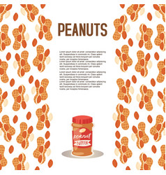 peanut butter plastic jar poster vector image