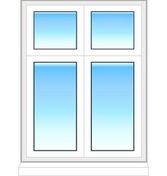 plastic windows in color vector image