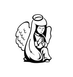 praying angel vector image