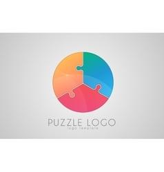 Puzzle circle logo logo creative logo vector