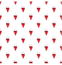 Red fire bucket pattern vector