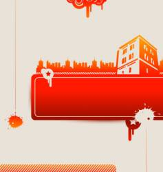 Red houses vector