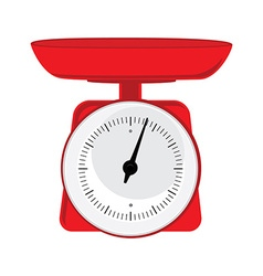 Red weight scale vector