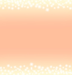romantic abstrack sparkling frame background vector image